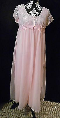 Vintage JCPenney GAYMODE PINK Nightgown Robe Peignoir SET Medium