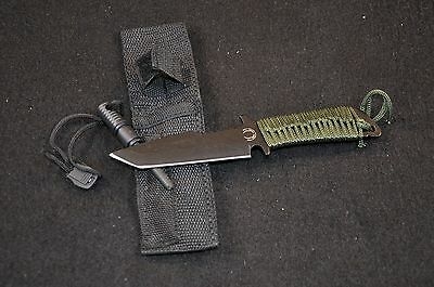 Dark Operation Tactical Team Survival Knife w/ Magnesium Fire Starter NEW 7 inch