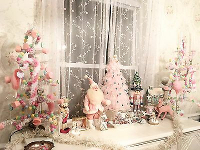 Decorated White Christmas Tree White And Pastel Candy Land