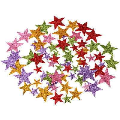 1 Pack Colorful Foam Star Shape Glitter Stickers for Wall Ceil DIY Projects