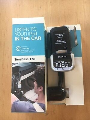 Belkin Tunebase Fm Transmitter Clearscan Fr Ipod Touch Never Used Free Postage