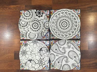 Maxwell Williams Mindfulness 19 cm Side Plate Set of 4 Assorted Paint Your Own