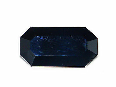 8.10 Cts Certified Loose 100% Natural Octagon Cut Dark Blue Spinel Ceylon-15334