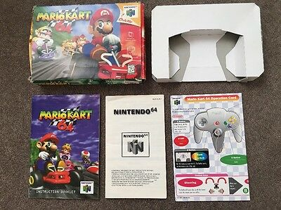 Box, Manual, Tray And Operation Card For Mario Kart 64 For N64 NO GAME