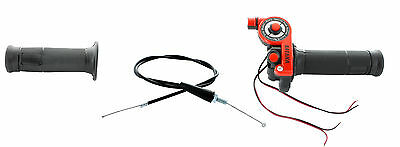 Motorcycle Motorbike 1/4 Turn Throttle Grip Cable Kill Start Switch 43'' Red