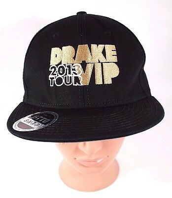 Drake 2013 Would You Like a Tour VIP Hat Black Gold OTTO Snapback OVO Hip Hop