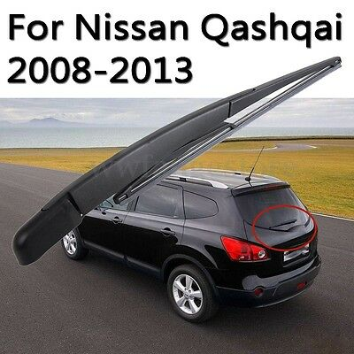 Rear Window Windshield Wiper Arm w/ Blade Replace For Nissan Qashqai 2008-2013