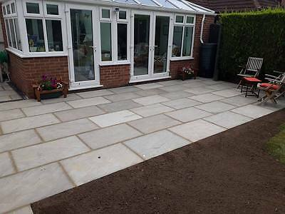 Indian Sandstone Kandla Grey 900x600 19.5m2 pack Paving Natural Slabs Silver