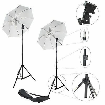 Kit DynaSun 2x W968S Cavalletto Stativo Adattatore Flash Ombrello x Studio Foto