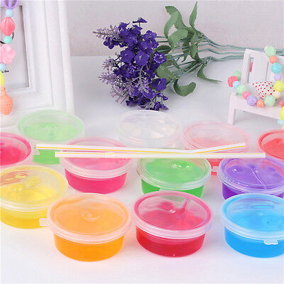 1piece Non-toxic Blowing Bubbles Crystal Mud Clay Can Draw Slime Funny Toys new