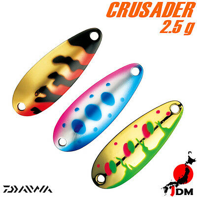Assorted Colors DAIWA CRUSADER 2.5 g Trout Spoon