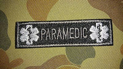 Brand New Paramedic Medical Black Morale Tactical Airsoft Patch Australia Seller