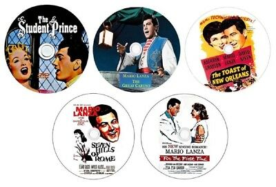 5 Dvd Mario Lanza Collection- Student-Caruso-7 Hills-For 1St Time- Toast~Orleans