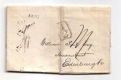 1833 Pre-stamp letter from London to Edinburgh, Scotland