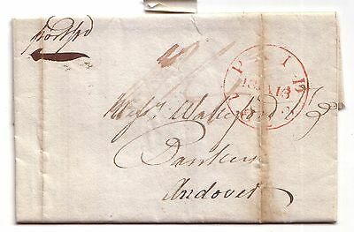 1823 Pre-stamp letter to Andover