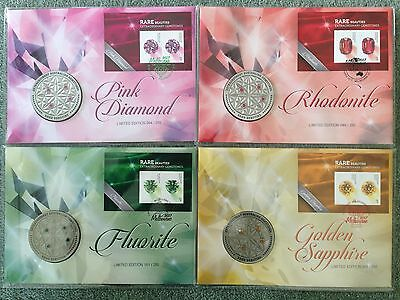 Melbourne 2017 Stamp Show Medallion Minisheet Fdc Rare Beauties Set Of 4 Pnc