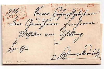 Pre-stamp letter Carlsruhe (Baden-Wurttemberg, Germany) 1831