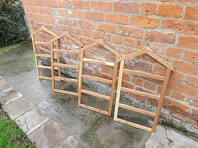Large Vintage Wooden Trouser Hanger rail rack four tier Ideal Shop Display