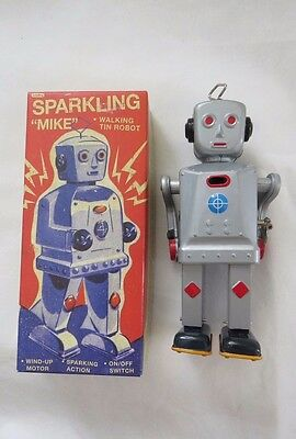 Schylling Sparkling Mike Wind Up Tin Robot Retro Collectable New In Box