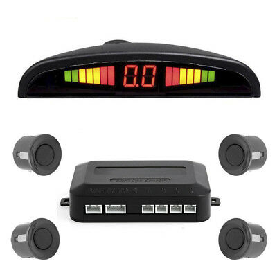 Car LED Display 4 Parking Sensor Reverse Backup Buzzer Radar Alarm System Sound