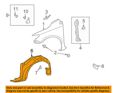 toyota oem 14 16 corolla front fender liner splash shield left Fender Stratocaster Schematic Diagram toyota oem 09 10 corolla front fender liner splash shield right 5387502260