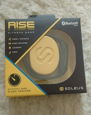 SOLEUS RISE ACTIVITY/SLEEP TRACKER FITNESS SPORTS BAND FOR iOS & ANDROID - BLACK