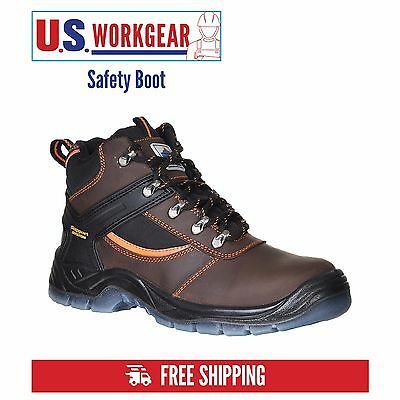Mens Work Safety Mustang Boots, Steel Toe Cap, Ankle Support, Portwest FW69