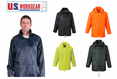 Portwest US440Classic Rain Jacket, Waterproof Outdoor Coat with Hood S-5XL