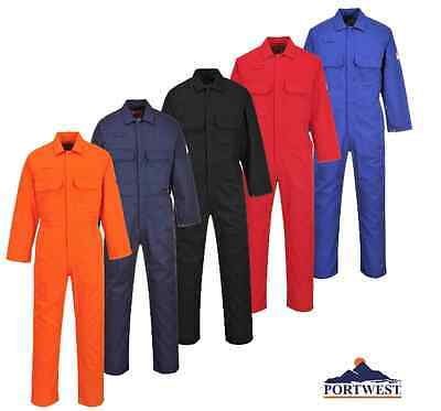 Portwest Flame Resistant Work Welding Coverall Overall Boliersuit, ASTM NFPA