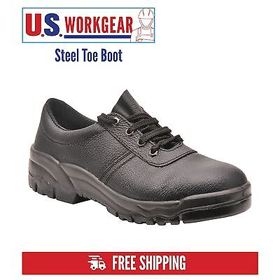 Portwest Boot Mens Work Safety Leather Steel Toe Cap, Low-Cut, Sizes 5-14, FW14