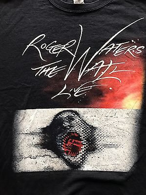 Roger Waters The Wall Live 2012 Tour T Tee Shirt Size XL Double Sided Pink Floyd