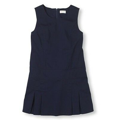 New With Tag Children Place Girl School uniform jumper Dress Navy Blue Size 6x/7