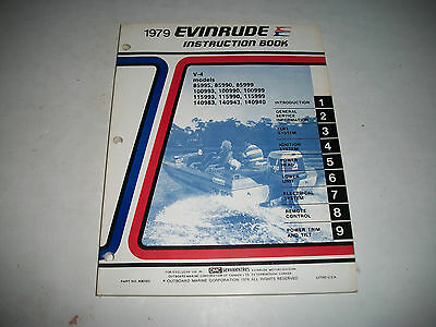 1979 Evinrude ( Johnson) V-4 Models Outboards Oem Service Shop  Manual Clean