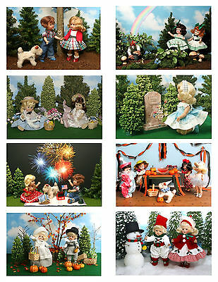 Vintage Ginny Doll 'Holidays' Greeting Cards
