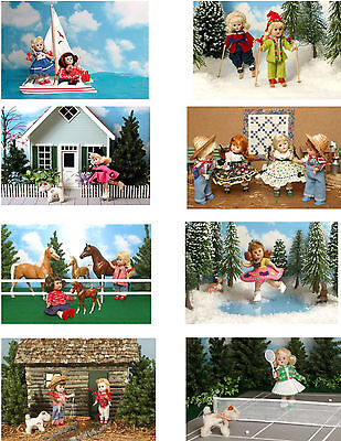 Vintage Ginny Doll 'Sports ' Greeting Cards