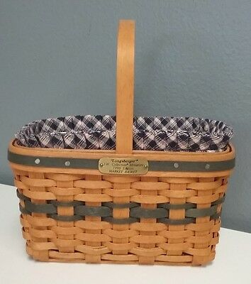 LONGABERGER NIB 1996 Collector Edition Mini Market Basket Liner Protector SR