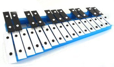 Glockenspiel 27 Key Musical Instrument Xylophone with Two Free Beaters - Blue