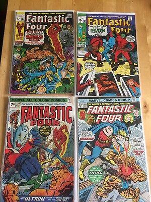 4 Fantastic Four Bronze Age Comics 100,101,150&165