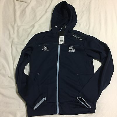 New Men's Craft Novo Nordisk Leisure Full-Zip Casual Hoodie, Navy, Size Small