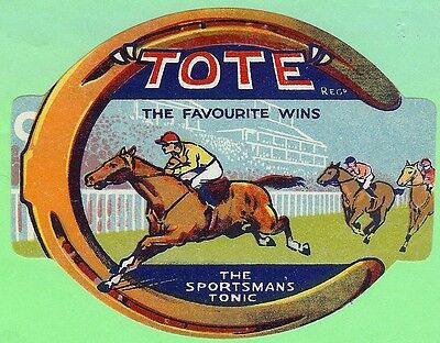 Tote Soda Label Horse Racing Sportsman's Tonic The Favorite Wins