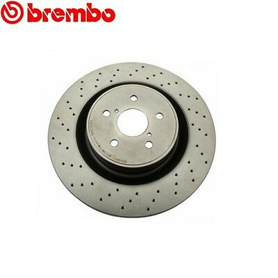 Pair Set 2 Rear PVT Pillar Vented Disc Brake Rotors Brembo For Lexus IS F Base