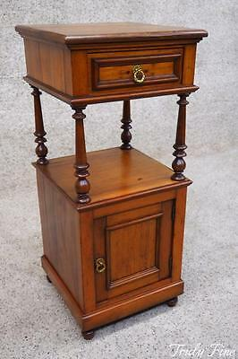 Continental Antique European Side End Nightstand Lamp Stand Table Night Stand