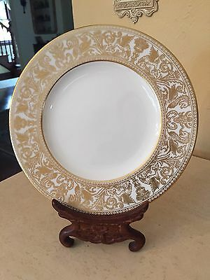 "WEDGWOOD china FLORENTINE GOLD W4219  SALAD PLATE 8"" EXCELLENT!"