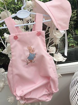 Peter Rabbit Baby Toddler Romper Suit Clothes Girl Pink Holiday Sun