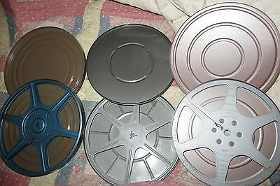 Large 400 Foot 8mm Home Movie Film Reel and Can Lot