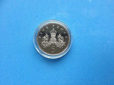 Royal Mint Thistle/Shield Proof Five Pence 5p Coin CHOOSE YOUR YEAR 1971-2017