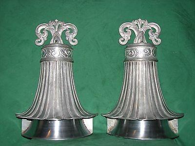 PAIR of LARGE ANTIQUE ART DECO WALL SCONCE LIGHTS ALABAMA ARCHITECTURAL SALVAGE