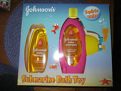 Johnsons submarine bath toy & baby shampoo gift set - New