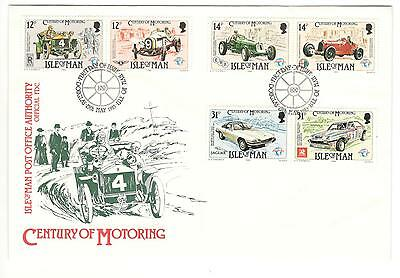Isle Of Man Cover Fdc Century Of Cars 1985 Non Addressed Isle Of Man Car Stamps