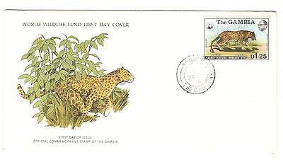 Gambia Fdc 1976 Cat Stamps The Leopard Wwf Gambia Stamps Africa Stamps